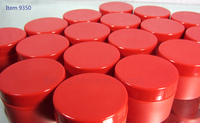 Plastic Beauty Containers - 5 ml (Red) - sku #9350