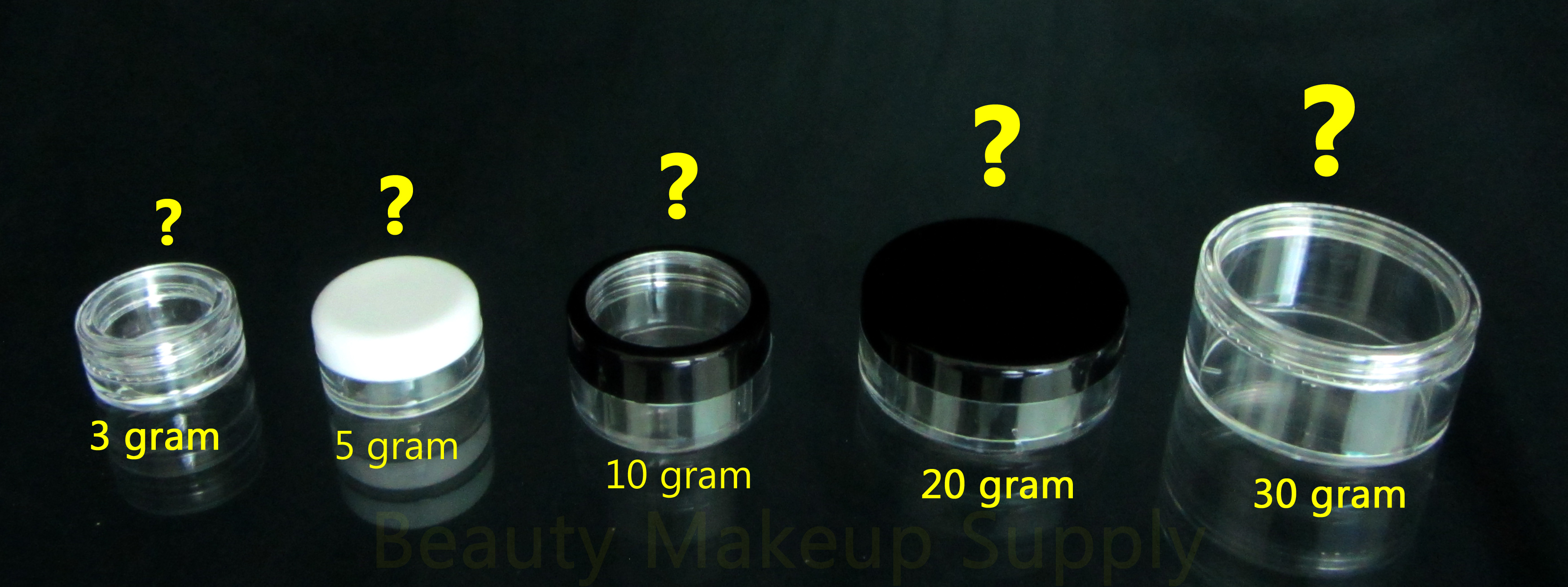 How do I choose the correct size of cosmetic jars